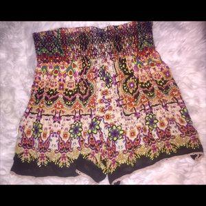 Patrons of Peace Shorts Smocked Boho print size M